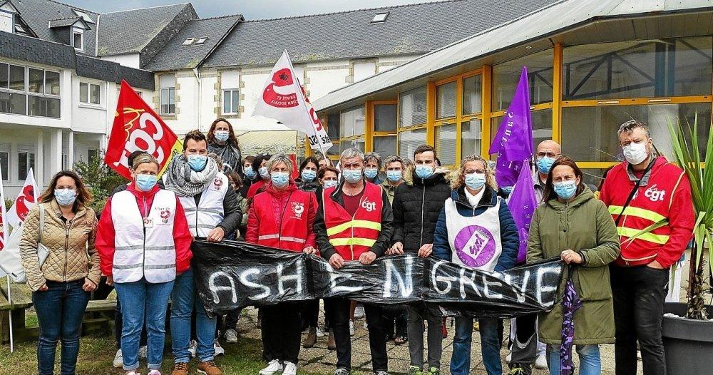 Les Agents des services hospitaliers de la Fondation Ildys ont fait grève le 24septembre