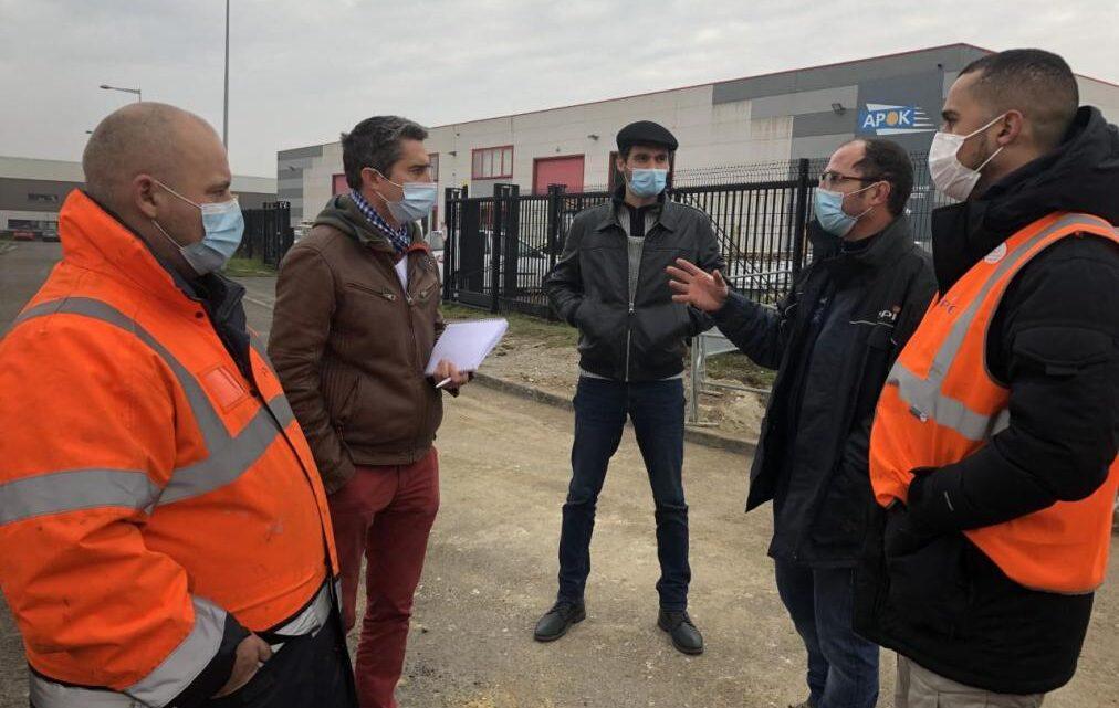 Des salariés de Spie industrie en grève à Amiens